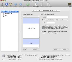 Disk Utility на Mac OS X
